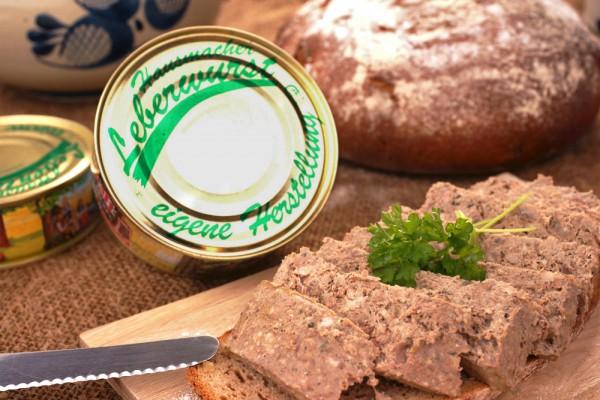 Hausmacher Leberwurst in der Dose - 200g