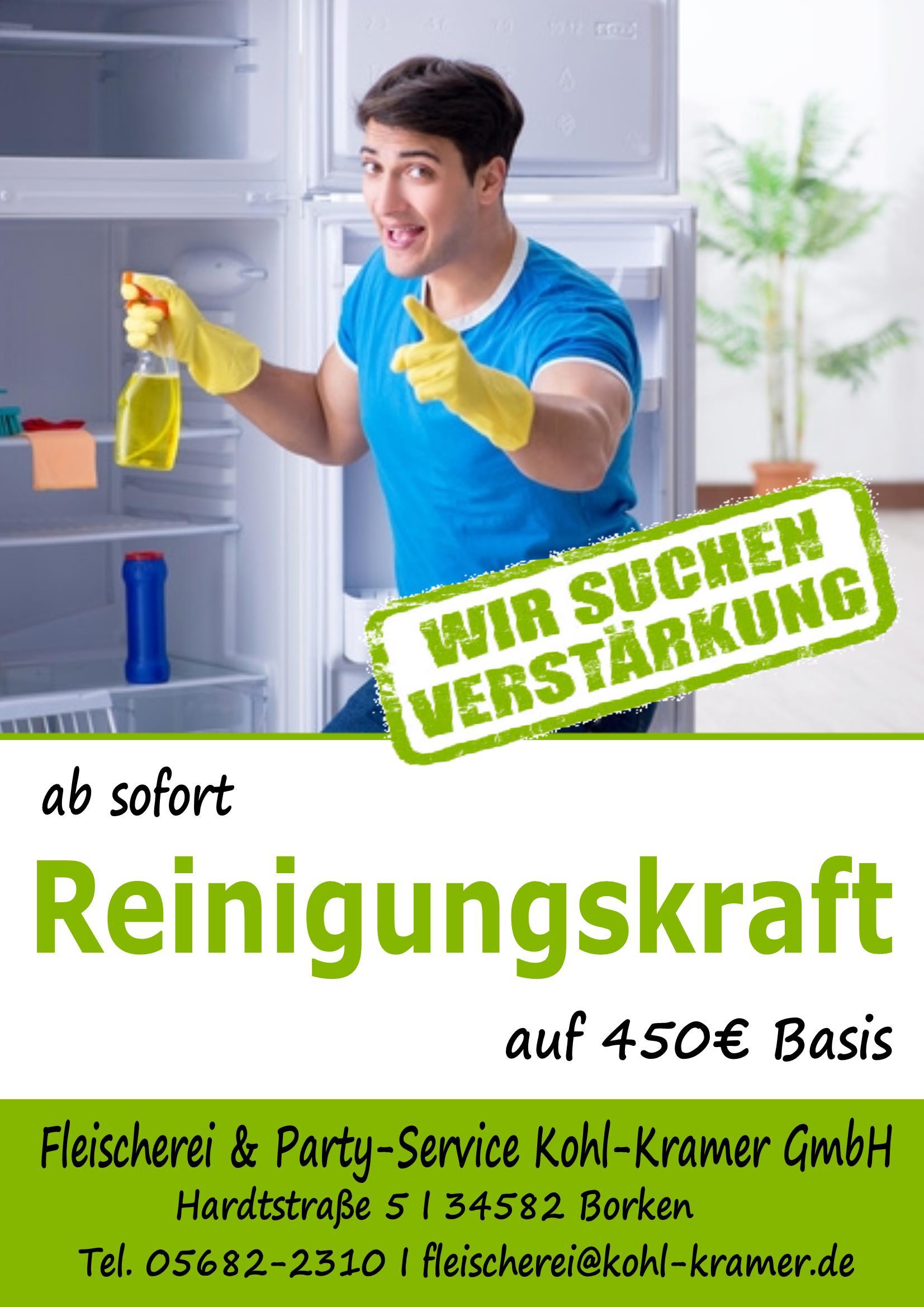 Reinigungskraft-Plakat